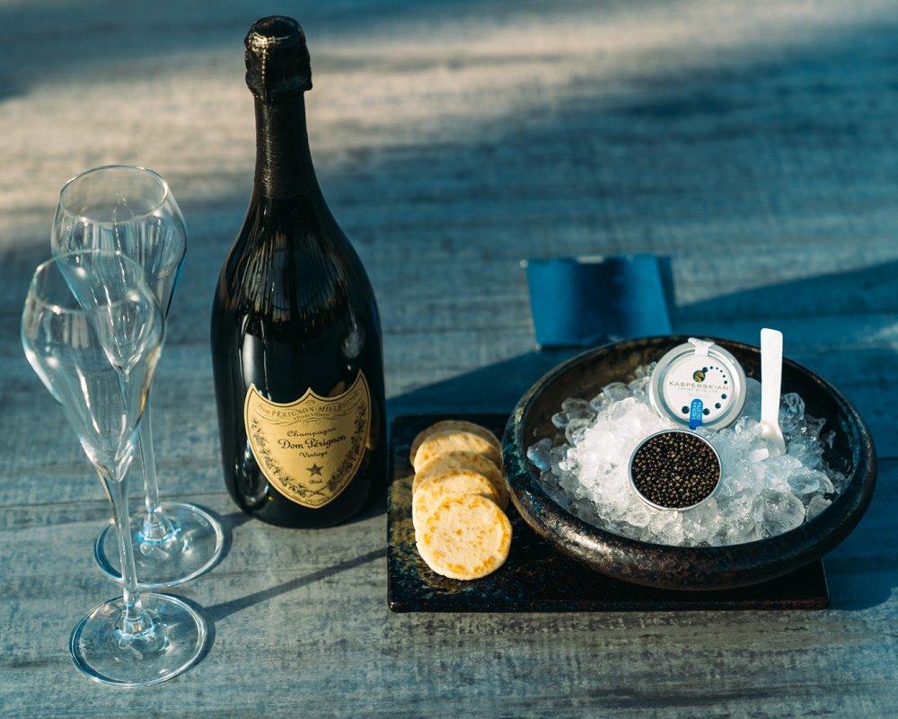 Dom Perignon & Kasperskian Caviar in April - St. Pancras